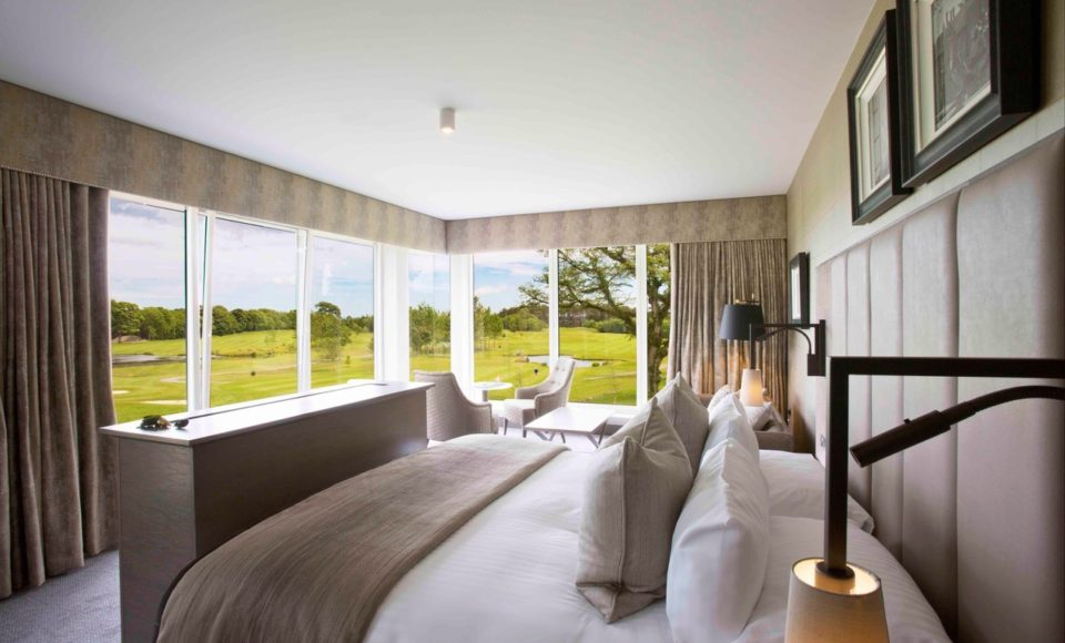 New wing bedrooms with views of GC